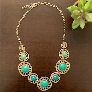 Francesca's Turquoise Statement Necklace